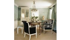 Elegant dining room with vintage flair by Windsor Smith