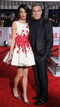 WHO: Amal Clooney WHAT: Giambattista Valli WHERE: Hail, Caesar! Los Angeles premiere WHEN: February 1, 2016