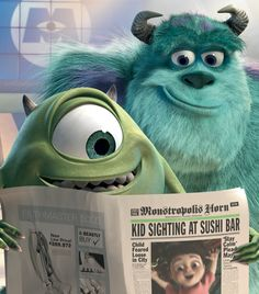 Monsters Inc. was my FAVORITE movie whenever I was a kid.