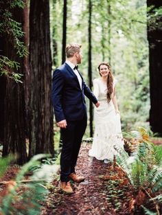 This wedding is both intimate and wildly romantic all rolled up into one. It'sa west coast elopementsurrounded by soaring Redwoods, perfectly edited details byA & B Creativeand a bouquet that will knock those socks right off crafted byTwiggs Floral Studio. And