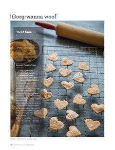 Banana and pumpkin dog treats: Recipe and photo by Paul Lowe for 'Sweet Paul Magazine' (Fall 2014) #recipe #banana #pumpkin #SweetPaul #dog