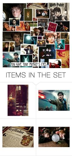 """Harry James Potter// ""You Have Your Mother's Eyes"" //"" by thehelsinghatter ❤ liked on Polyvore featuring art, harrypotter and PottermoreInPolyvoreMagicChallenge"