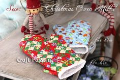 Quilted Patchwork Oven Mitt For Christmas