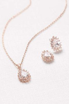 4c5ff67caf3b7 View Almond Cubic Zirconia Necklace and Earring Set 60008S Bridal Jewellery  Inspiration