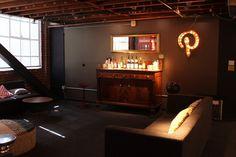 A cozy bar area. | 43 Ways Pinterest's Office Is The DIY Paradise You'd Expect