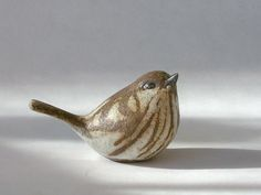 Ceramic Sparrow Sculpture