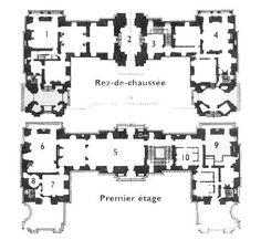N°1 : Salon des captifs ou chambre d'apparat de René de Longueil N°5, 6 et 7 : Appartements du roi N°10 : La Chambre de Jacques Laffittechâteau de Maisons Laffitte