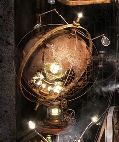 Dome - I know this is a Globe but this style of top for the house in burnished metal that will open for the Observatory