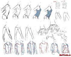 Как рисовать одежду на человеке