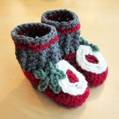 OSU Baby Booties by SalvagedStrands on Etsy, $22.00