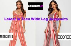 See our Fashion review of latest Teen Wide Leg Jumpsuits at Irish fashion website, Fashion.ie. The latest teen fashion from Missguided and Boohoo