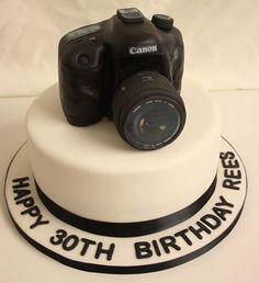 Camera Cake. Happy 30th Birthday!