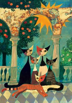 Abstract Cats - Rosina Wachtmeister - http://www.tunnel.ru/userfiles/ck/images/5139/107451155_rosinawachtmeister_01.jpg