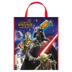 Star Wars Plastic Tote Bag 13 X 11 Inches
