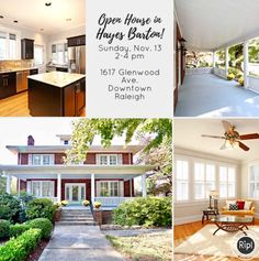 TODAY - Open House in Hayes Barton/Five Points area! 2-4pm. 1617 Glenwood Avenue, Raleigh.