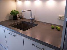 beton unique - beton cire: Betonarbeitsflächen Betonküche Betoncire