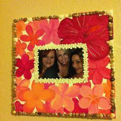 My original plumeria painted picture frame