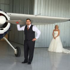 Airplane bride