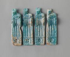 Mycenaean Glass ornaments with recumbent deer  Period: Late Helladic III Date: ca. 1400–1200 B.C.