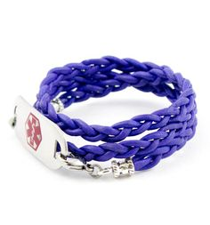 Deep Purple Medical ID Wrap Bracelet...who knew wearing a medical ID bracelet could be so fun?