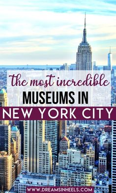 One of the best activities to do in New York City is visiting museums. As a New Yorker, I've given this a lot of thought and have compiled a list of what I would define as the best museums in NYC. | best museums in new york city | cool museums in nyc | free museums nyc | fun museums in nyc | nyc art museums | museums nyc in new york | museums nyc | nyc itinerary | new york itinerary | best things to do in nyc | nyc rainy day activities | nyc indoor activities | activities in nyc | nyc… New York City Vacation, Visit New York City, New York City Travel, Usa Travel Guide, Travel Usa, Travel Guides, Travel Tips, Day Trip To Nyc, Nyc Itinerary