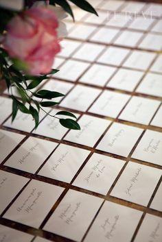 Escort cards wedding table