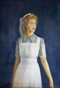 Joan Saxton, a Student Nurse Who Trained at Cirencester Memorial Hospital - Frank Cadogan Cowper