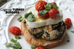 Caprese Turkey Burgers