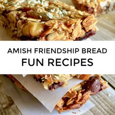 Want to try Amish Friendship Bread pretzels? A cobbler or bread with cookies or potato chips? Friendship Bread Recipe, Amish Friendship Bread, Amish Recipes, Bread Recipes, Cooking Recipes, Cinnamon Twists, Cinnamon Rolls, Bread Twists, Chewy Granola Bars