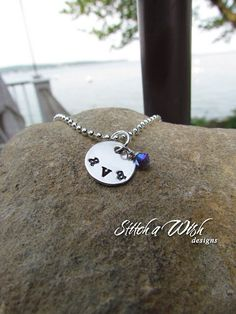 ava necklace hand-stamped