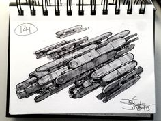 SpaceshipADay Jeff Zugale on ArtStation at… Spaceship Design, Spaceship Concept, Concept Ships, Concept Art, Ship Sketch, Ship Of The Line, The Dunes, Fantasy, Space Crafts