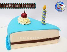 piece of cake - Torta porción decorada
