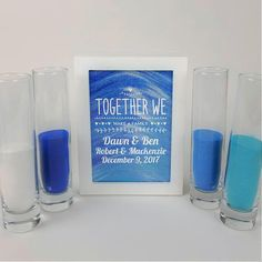 Blended Family Wedding Sand Ceremony Set, Shadow Box Kit, Unity Candle Alternative, Together We Make a Family, Blended Family Sand Frame The Wedding Date, Wedding With Kids, Dream Wedding, Cabin Wedding, Trendy Wedding, Garden Wedding, Fall Wedding, Unity Candle Alternatives, Unity Ceremony