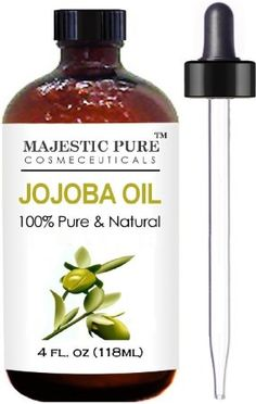 Majestic Pure Jojoba Oil for Hair and Skin, 4 fl. oz.