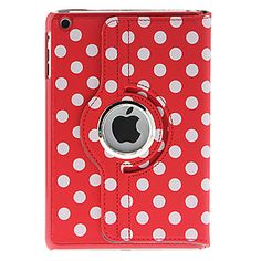 Polka Dot Series 360 Degree Rotatable Leather Case with Stand for iPad Mini - iPad Mini Cases - iPad Cases