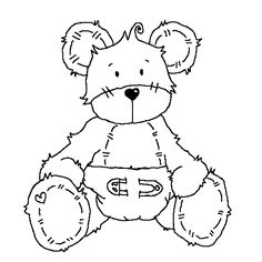 Baby Bear uncolored[Ellephantastic Challenges: Mid month surprise & inspiration!]