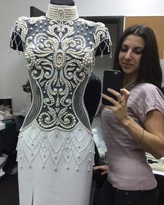 Shop sexy club dresses, jeans, shoes, bodysuits, skirts and more. Bead Embroidery Patterns, Couture Embroidery, Embroidery Fashion, Hand Embroidery Designs, Embroidery Dress, Skating Dresses, Dance Dresses, Bridal Gowns, Dress Wedding