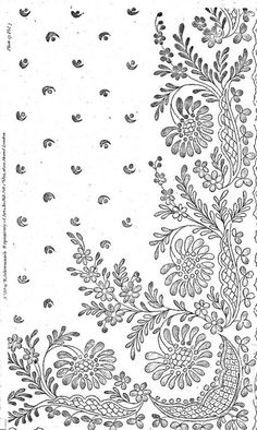 TONS of amazing free patterns on this flickr site. Tambour Embroidery, Hand Work Embroidery, Embroidery Motifs, Flower Art Drawing, Border Embroidery Designs, Pencil Design, Point Lace, Motif Design, Lace Patterns