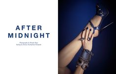After Midnight--Photographer Wendy Hope captures FGR's very first all-accessories exclusive with these glossy studio images. Styled by Denise Blue And Silver Nails, After Midnight, Shoes 2014, Miu Miu Ballet Flats, Adele, Giuseppe Zanotti, Fashion Photo, Glamour, Legs