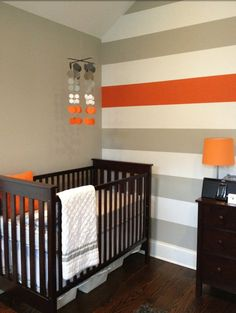 Stripes for Matthew's room but with blue and green stripes instead of grey