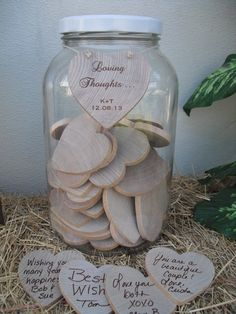 Mason Jar Guest Book | GUEST BOOK ALTERNATIVE Wedding Wishing Well by dazzlingexpressions, $ ...