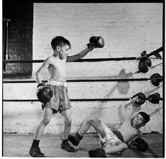 These kids are boxing in the Police Athletic League. - Stanley Kubrick