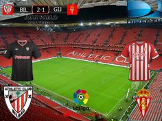 Liga Santander 2016/17 20º Fecha: Athletic Bilbao 2-1 Sporting Gijon