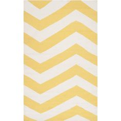 Covina Flatweave Chevron Area Rug (£310) ❤ liked on Polyvore featuring home, rugs, yellow, yellow area rug, yellow chevron rug, flat woven rug, non skid rugs and flatweave rugs