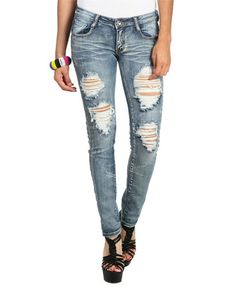 Hematite Side Seam Jeans from WetSeal.com