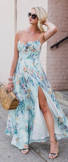 When No Caption Can Describe Your Favorite Maxi...   Shop This Outfit In The Link#summer #outfits