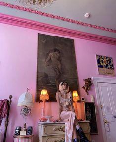 Interior Architecture, Interior And Exterior, Interior Design, Manado, Pretty Room, Aesthetic Bedroom, Pink Aesthetic, Bedroom Inspo, New Room