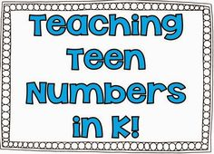 K.NBT.1- This blog post details many of the strategies this teacher uses to teach teen numbers in her classroom. She does advocate the use of some paid resources, but you don't have to buy anything to use her strategies, and it's all stuff you can easily make on your own! Definitely worth looking at.