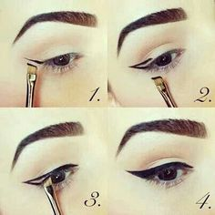 I'm going to try this with a slanted brush and black eye shadow