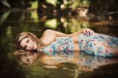 Reflection pictures, reflections, water reflection, senior pictures, senior poses, senior outfit, crop top and skirt, unique senior pictures, water picture ideas, water poses, senior girls in the water, senior water poses, senior ideas, senior picture ideas, unique senior picture poses, creek, creek pictures, Suzanne Deaton Photography .
